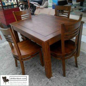 meja makan jati minimalis modern