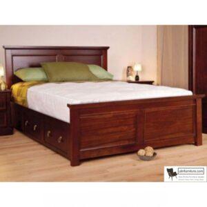 tempat tidur laci minimalis kayu jati