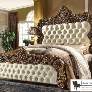 Tempat Tidur Mewah Klasik Ukiran Jepara