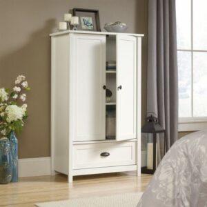 Lemari Pakaian Minimalis Putih 2 Pintu