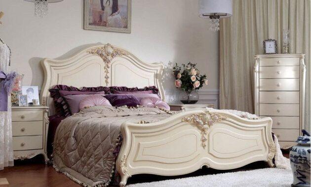 set tempat tidur mewah duco putih