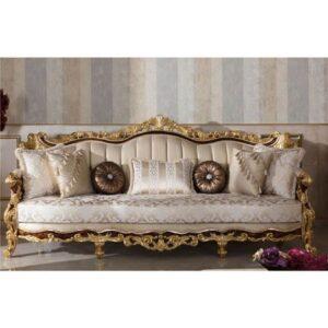 sofa mewah kayu jati ukiran jepara
