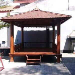 Gazebo Sederhana Kayu Glugu