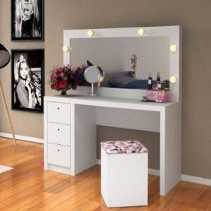 Meja Rias Lampu Minimalis Putih