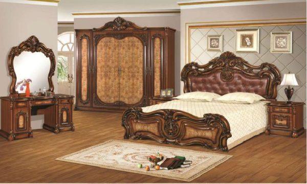 Set Kamar Mewah Ukiran Klasik Antik