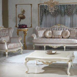 Set Kursi Mewah Klasik Model Sofa